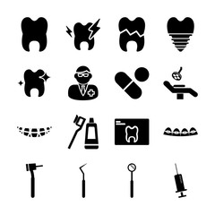 dental solid icons