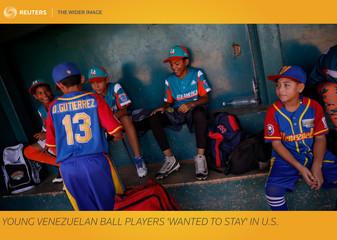 The Wider Image: Young Venezuelan ball players 'wanted to stay' in U.S.