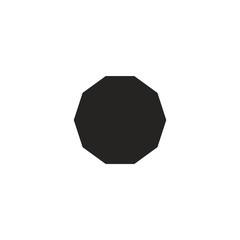 decagon. flat vector illustration of a vector figure