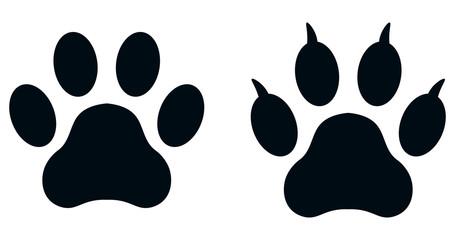 Set of paw prints
