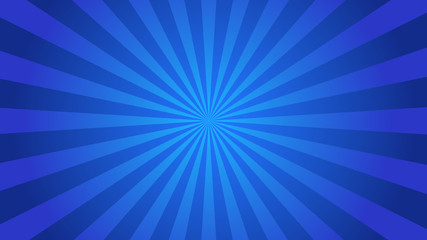 Starburst abstract blue background