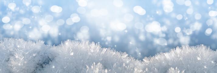 macro snow background, festive mood