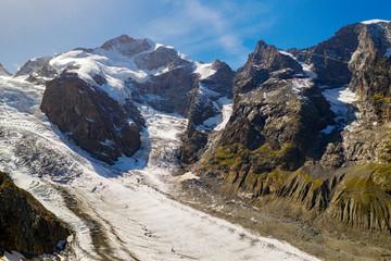 Svizzera - Engadina - Ghiacciaio del Morteratsch - vista aerea (settembre 2019)