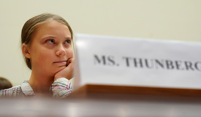 SIxteen year-old Swedish climate activist Greta Thunberg testifies at a House Foreign Affairs subcommittee and House Select Climate Crisis Committee in Washington