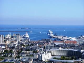 Türaufkleber Barcelona Port de Cherbourg