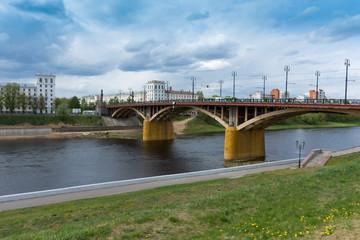 Bridge over the Western Dvina river in Vitebsk