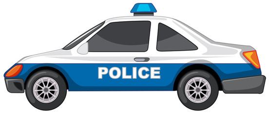 Papiers peints Cartoon voitures Police car on white background