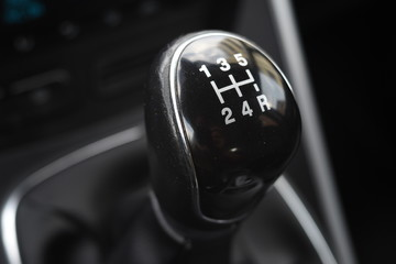 gear shift knob of a car