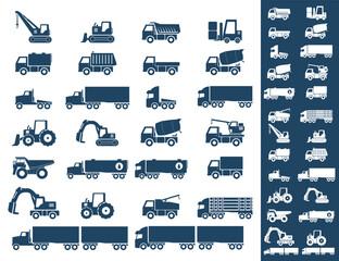 Icon Set, heavy duty machines