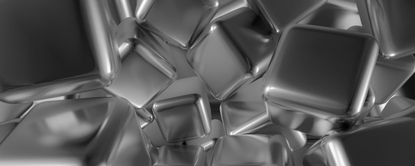 abstract cube background, 3d cubes grey background. 3d illustration