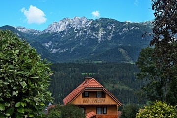 Austrian Alps-outlook of the Alps from Haus im Ennstal