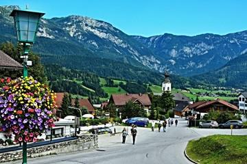 Austrian Alps-view on the massif of Dachstein from Haus im Ennstal