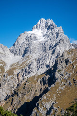 south peak of the watzmann in the alps