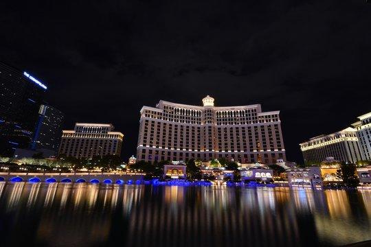 Las Vegas, Nevada - July 25: Bellagio hotel and casino on July 25 2017 in Las Vegas. Bellagio is a luxury hotel and casino located on the Las Vegas Strip. The Bellagio opened on 1998.