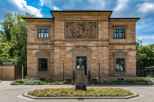 Exterior view of the Wahnfried, villa of Wagner in Bayreuth, Bavaria