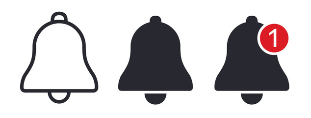 Notification bell icons vector illustration
