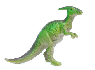 dinosaurs toys isolated  on white background Wall mural