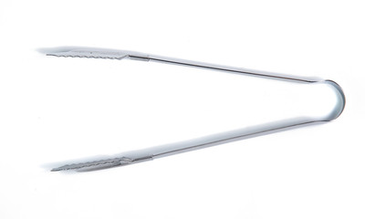 serving tongs ice isolated on a white background