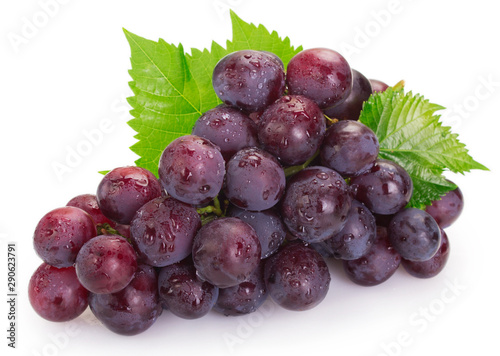 Fototapete Fresh grape on white background