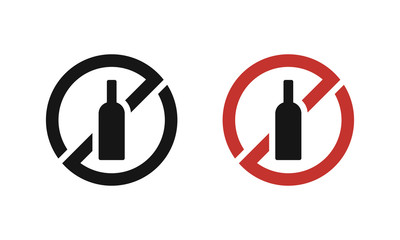 Isolated no alcohol drink sign vector design.