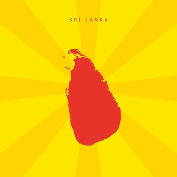 Sri Lanka Vector Map