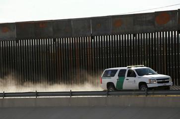 U.S. police patrol vehicle is seen in the border into El Paso, Texas, U.S. as photographed from Ciudad Juarez