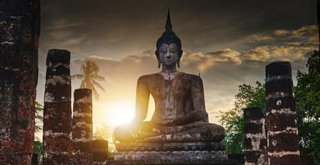 buddha statue at sukhothai historical park thailand