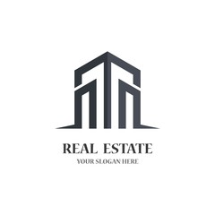 Real estate logo icon illustration