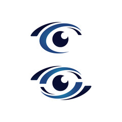 Ophthalmologist Optical Eyes Logo design vector symbol concept idea