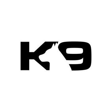 training k9 Dog logo design vector ideas on a white background