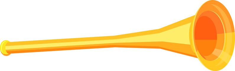 Trumpet in 3D vector icon