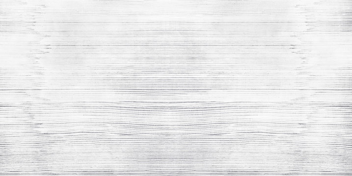 Wide white old shabby wood texture. Light gray whitewashed wooden backdrop. Widescreen vintage background
