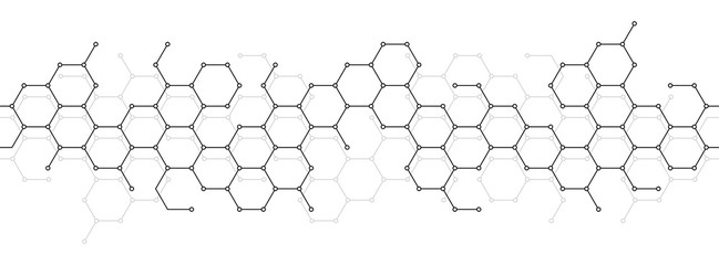 Technical honeycomb background Wall mural