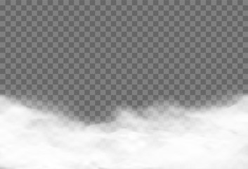 Realistic vector cloud over transparent background
