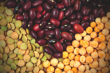 lentil, pea and bean background