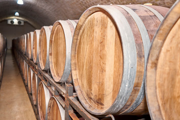 beautiful photo of a wooden barrel of wine.