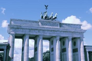 Berlin Brandenburg Gate. Filtered vintage color style.
