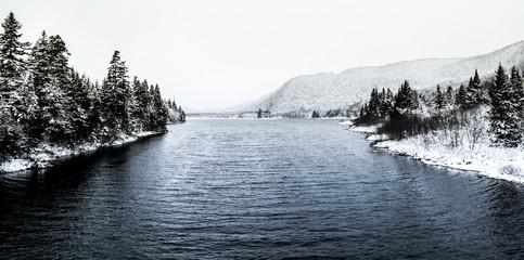 Paysages Canadiens lac Neige