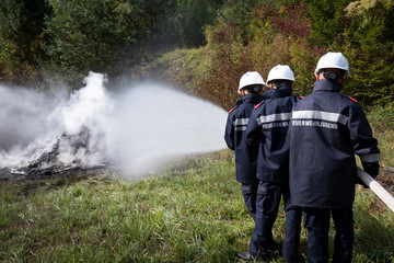 Feuerwehrjugend Brandeinsatz