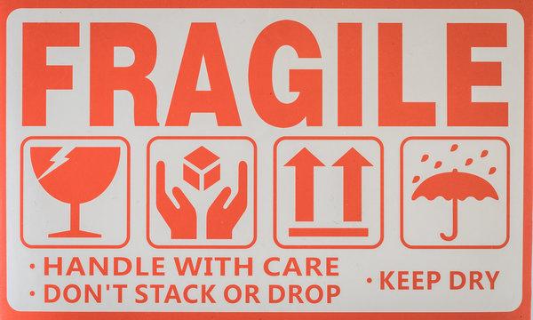 Fragile symbol sign