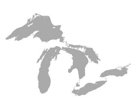 Karte der Großen Seen