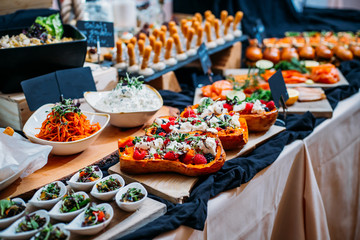 Breakfast Buffet Concept, Breakfast Time in Luxury Hotel, Brunch with Family in Restaurant, Snacks - Image