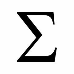 Black Sigma sign