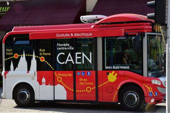 Caen; France - april 4 2018 : the picturesque city center
