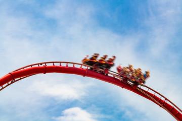 Orlando, Florida, USA-July 17, 2019: Roller coaster at Universal