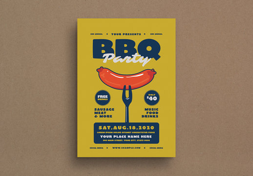 Barbecue Party Event Flyer Layout