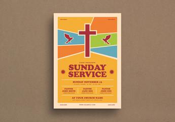 Christian Service Flyer Layout