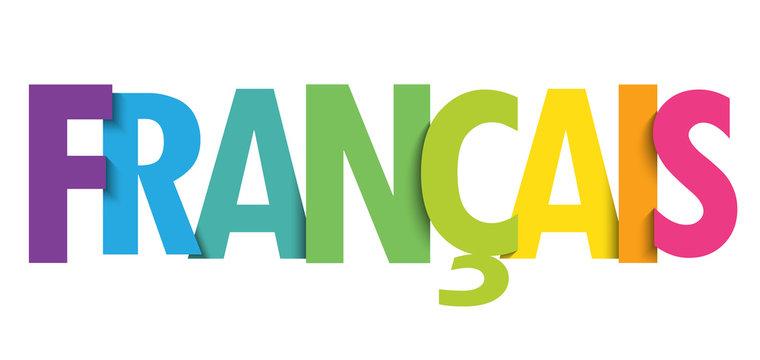 Bannière typographique vecteur FRANCAIS