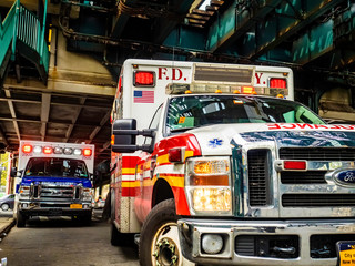 Fire Department of New York Ambulance on 04/25/2016 in Bronx, New York City, New York, USA