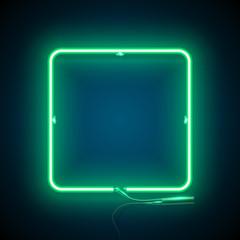neon square frame